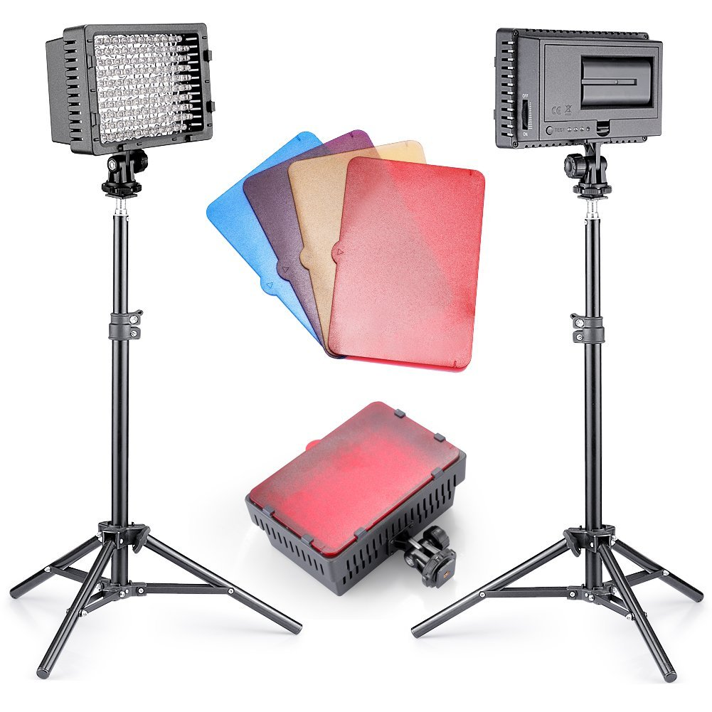 Newer 2 Piece Photography CN-160 LED Studio Lighting Kit