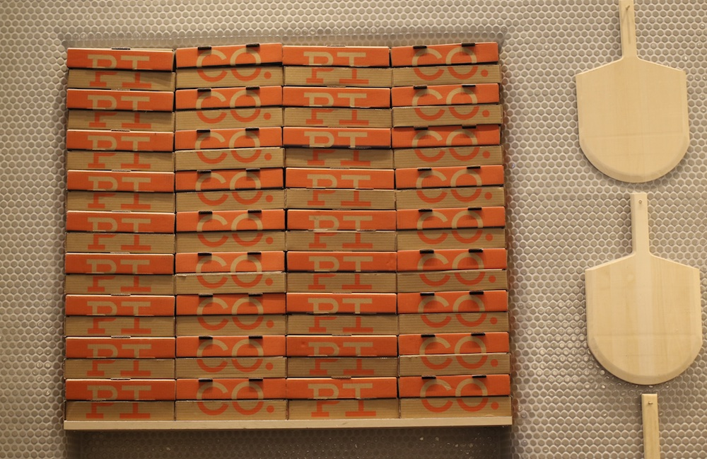 pi co pizza box wall